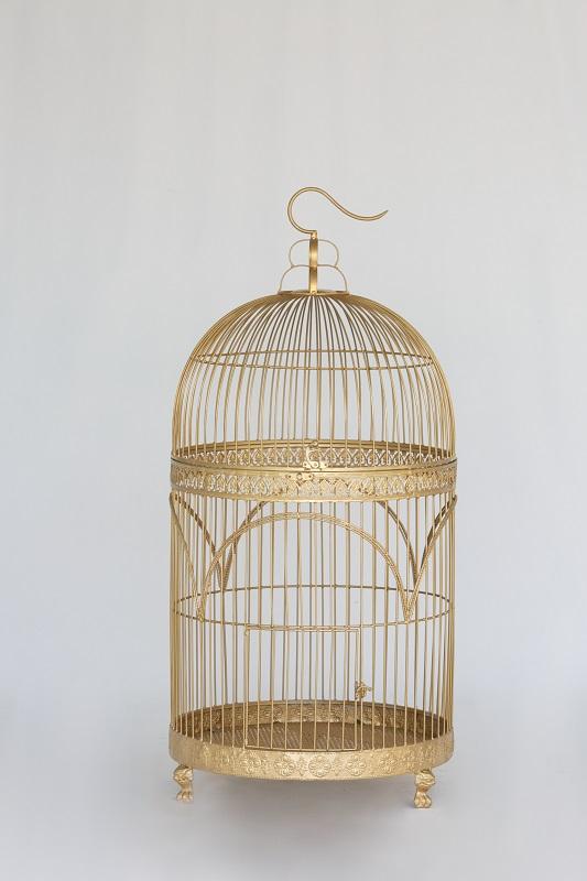 Large Gold Birdcage