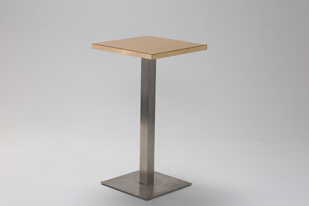 Gold Mirror Bar Table