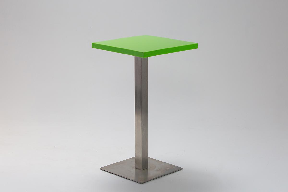 Green Perspex Bar Table