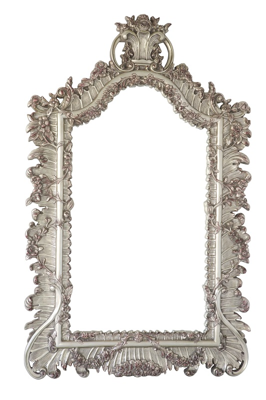 Silver Large Ornate Mirror