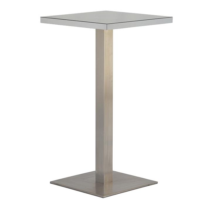 Silver Mirror Square Bar Table