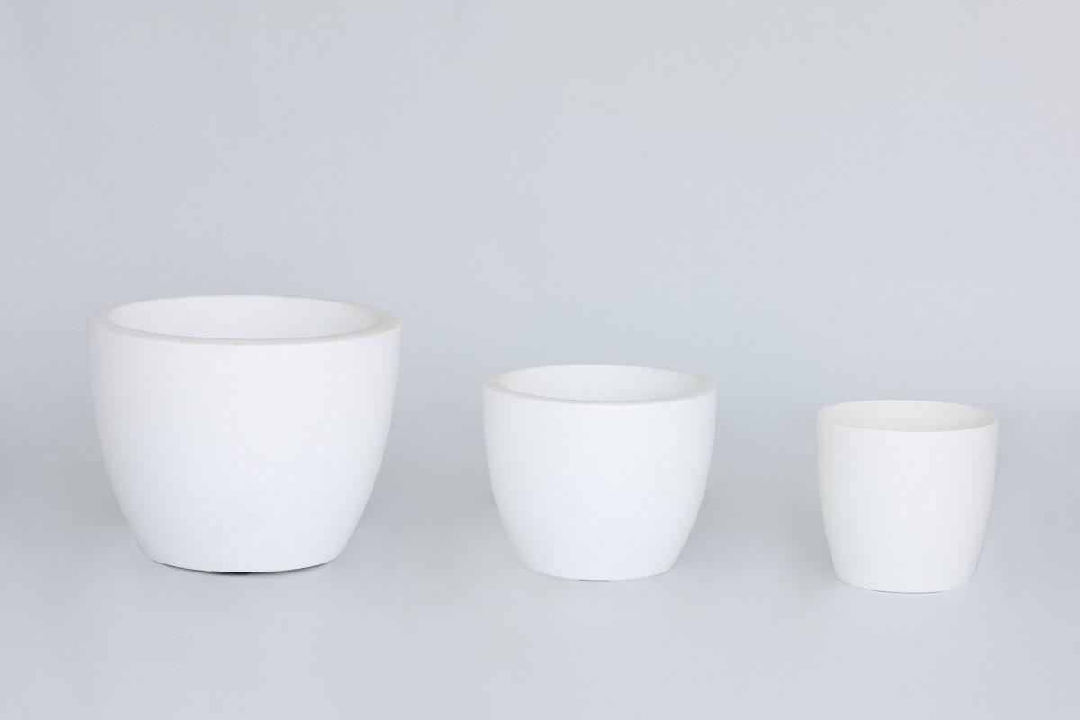 White Low Elho Planter Set