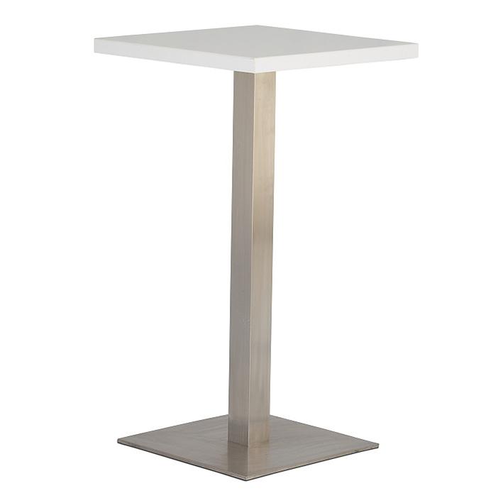 White Square Bar Table