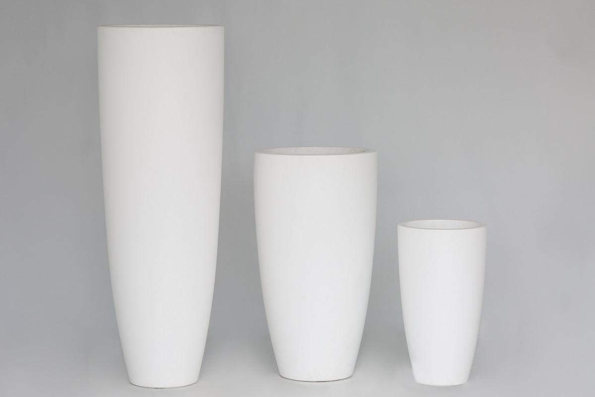 White Tall Elho Planter Group