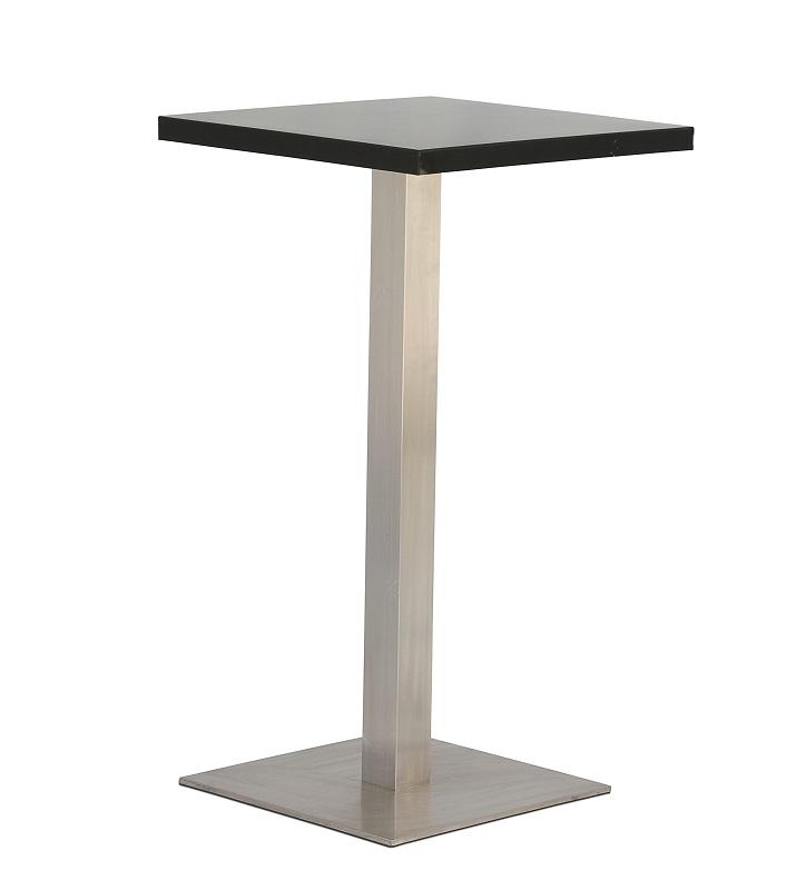 Black Square Bar Table