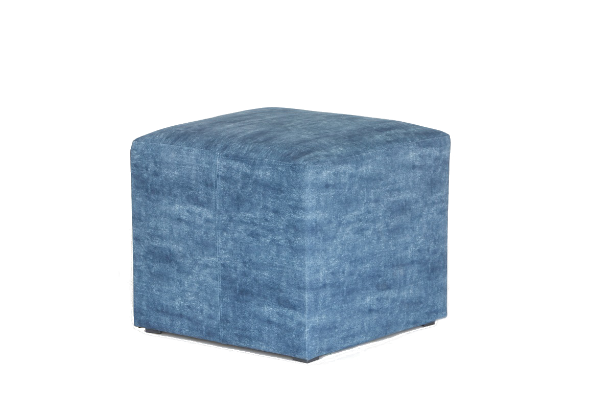 Blue Cube Stool Seat