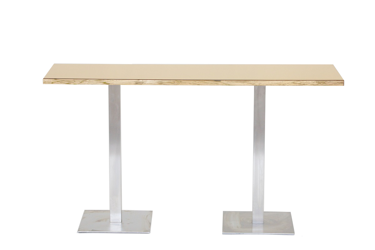 Gold 2m Bar Table