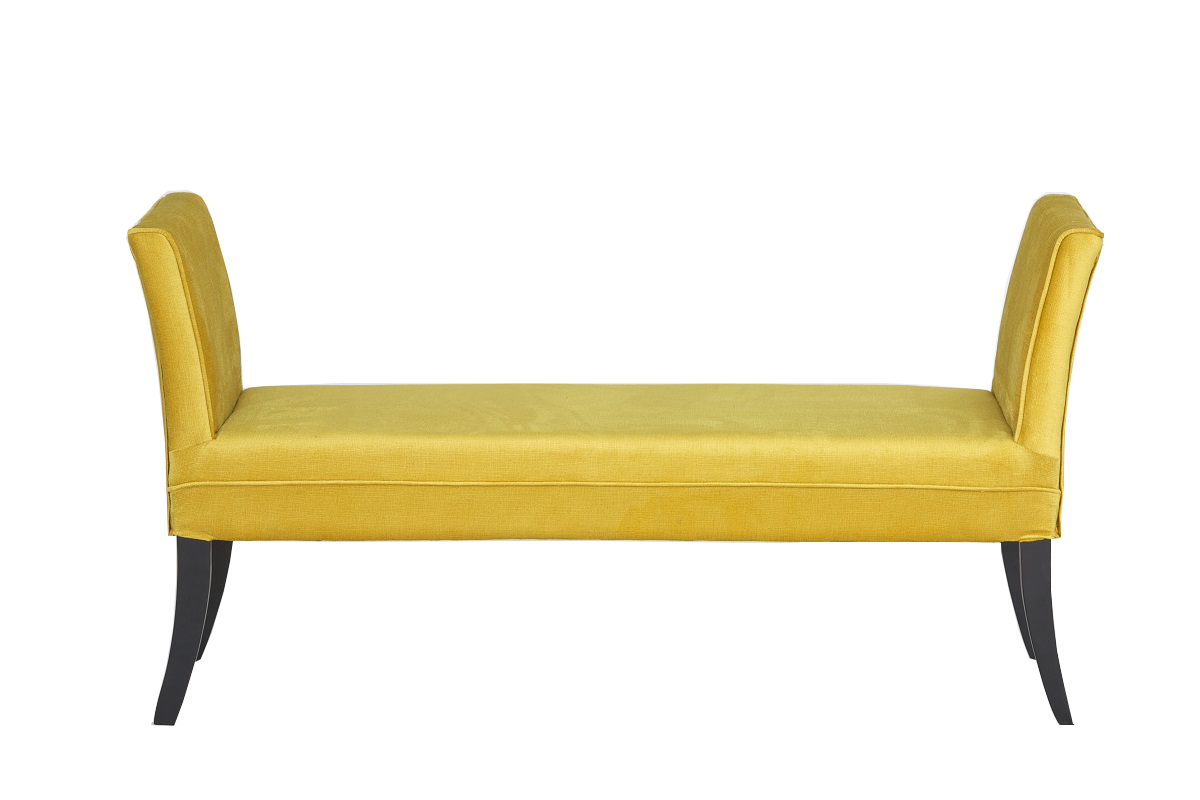 Gold Wing Arm Low Stool