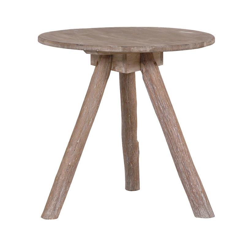 Wood Tripod Low Table