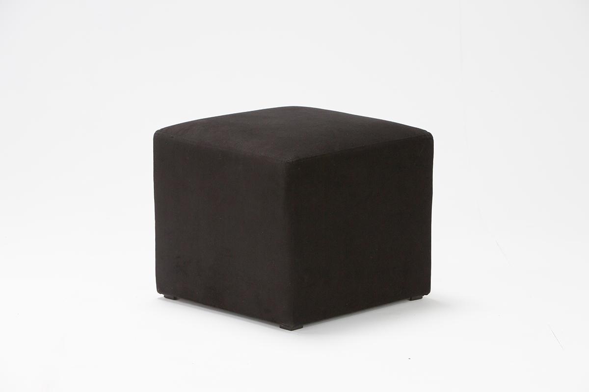Black Velvet Cube Seat