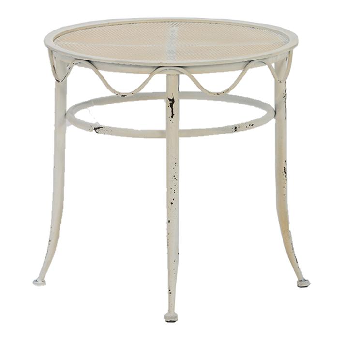 Distressed Cream Iron Low Table