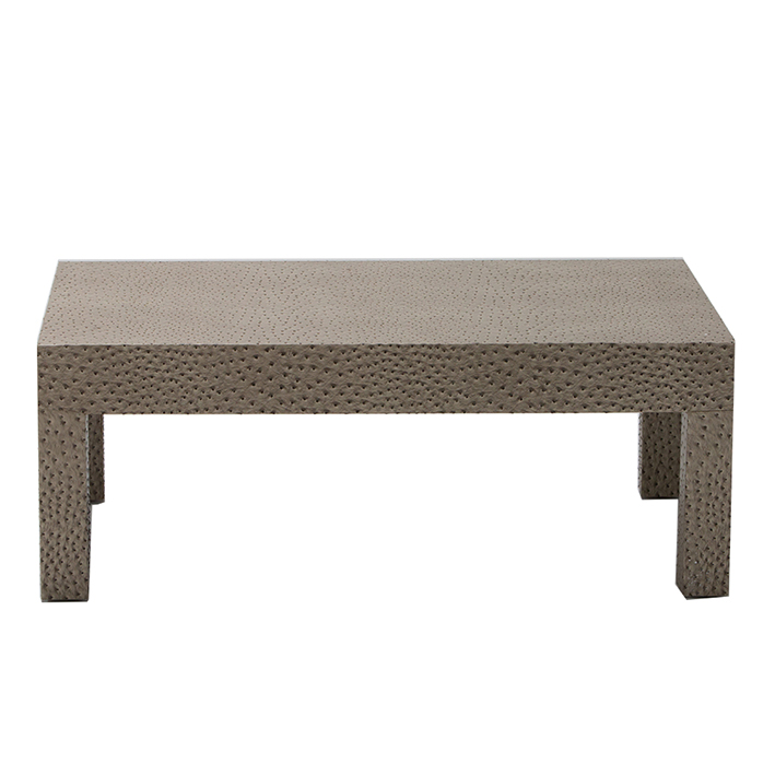 Ostrich Leather Effect Low Table