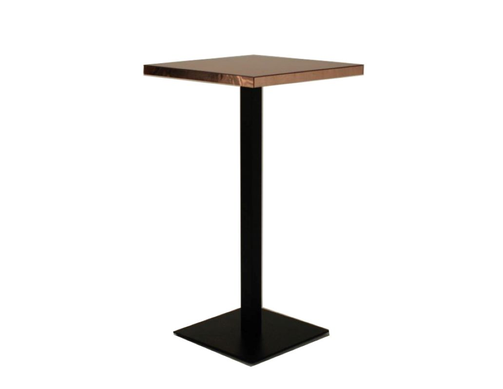 Rose Gold Square Bar Table