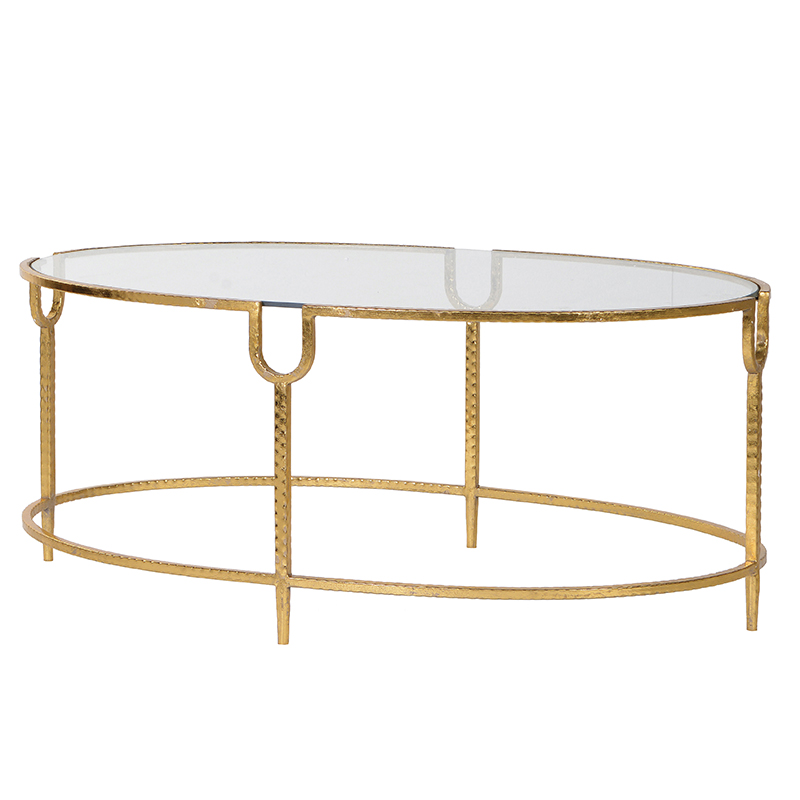 Gold Glass Coffee Table