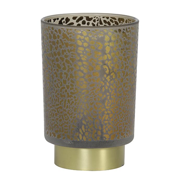 Grey Leopard Battery Table Lamp