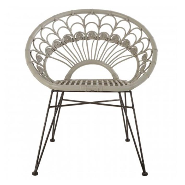 Grey Woven Chair