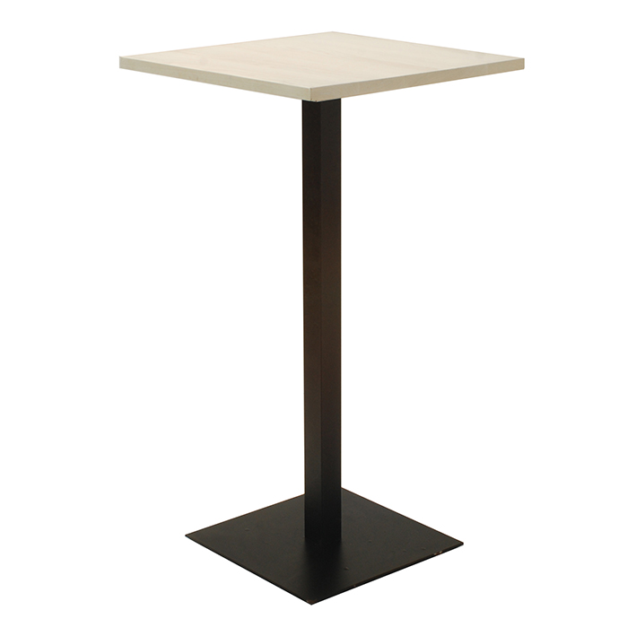 White Top Bar Table with Black Basek as